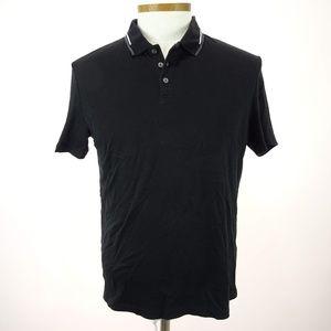 Alfani Men's Black Short Sleeve Polo Shirt